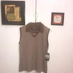 Cutter & Buck Women's Polo Shirt Medium Brown Nice